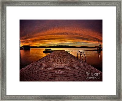 No Running Framed Print
