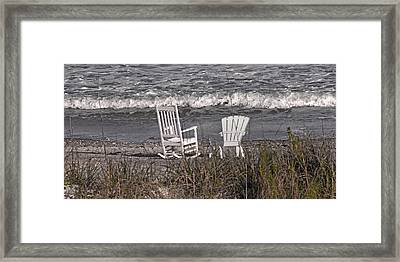 No Rush To Be Anywhere Anytime Soon Framed Print by Betsy Knapp