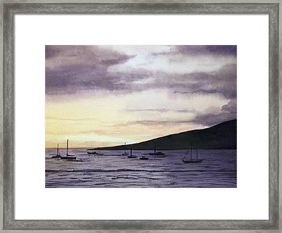 No Safer Harbor Lahaina Hawaii Framed Print