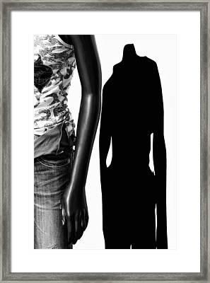 No Sense Of Style - Mannequin Framed Print