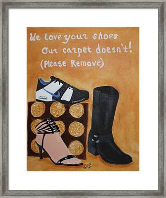 No Shoes Framed Print by Kimber  Butler