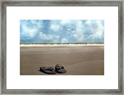 No Shoes Required Framed Print