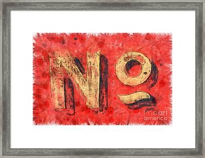No Sign Framed Print by Edward Fielding