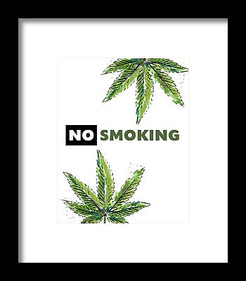 No Smoking Framed Prints