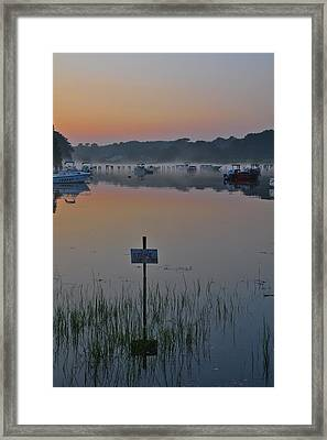 No Stone Throwing Framed Print by Catherine Easton