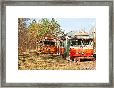 No Stops Framed Print
