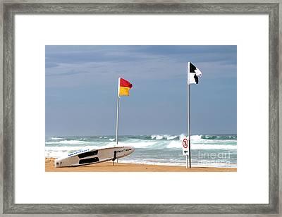No Surfing Framed Print