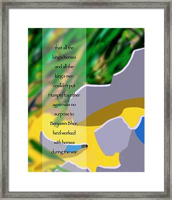 No Surprise Framed Print by Tom Dickson