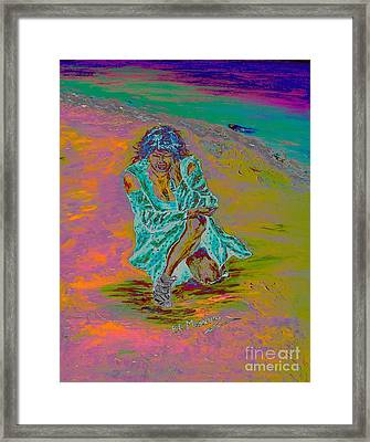 Framed Print featuring the painting No Surrender by Loredana Messina