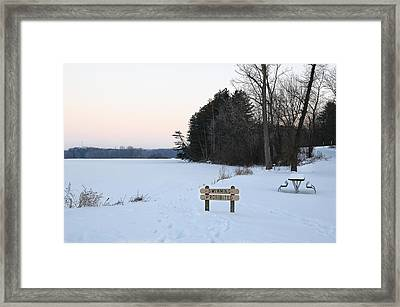 No Swimming Framed Print by Dick Pratt