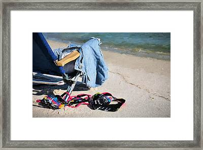 No Tan Lines Here Framed Print by JC Findley