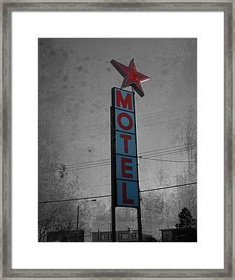 No Tell Motel Framed Print