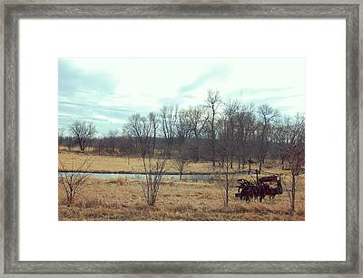 No Till Farm Framed Print by Jame Hayes