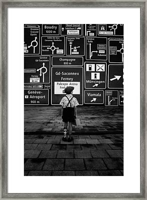 No Time No Space Framed Print