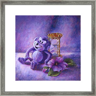 No Time To Monkey Around Framed Print
