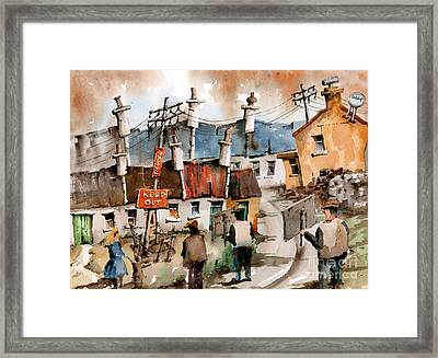 No To Pylons In Ireland Framed Print
