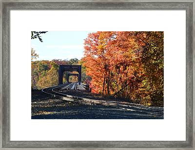 No Train Coming Framed Print