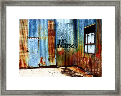No Trespass Framed Print by Ronnie Glover