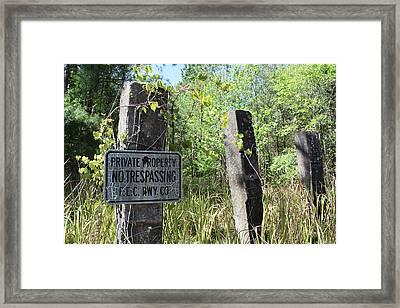No Trespassing Framed Print