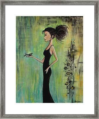 No Voice Above A Whisper Framed Print by Debbie Horton