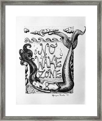 No Wake Zone, Mermaid Framed Print