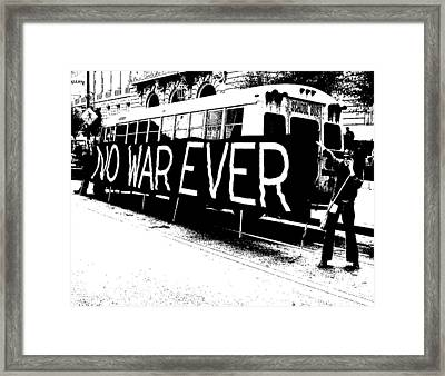 No War Ever Framed Print by Mark Stevenson