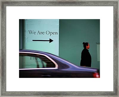 No We Are Closed  Framed Print by Empty Wall