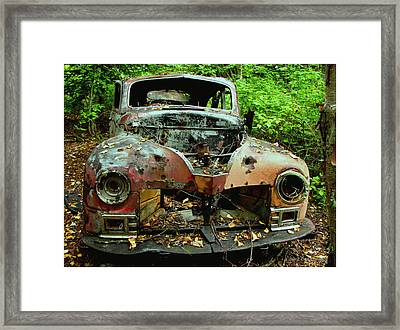 No Where To Go Framed Print by Laura Wergin Comeau