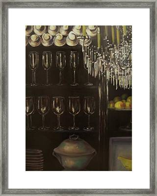 No Whine Dining Framed Print by Dana Redfern