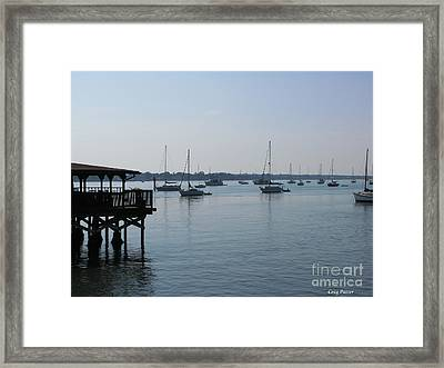 Framed Print featuring the photograph No Wind by Greg Patzer