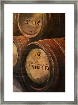 No Wine Before It's Time - Barrels-chateau Meichtry Framed Print