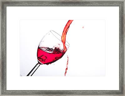 No Wine Was Harmed During The Making Of This Image Framed Print