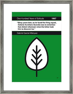 No004 My One Hundred Years Of Solitude Book Icon Poster Framed Print