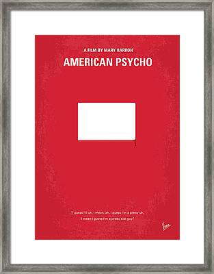 No005 My American Psyhco Minimal Movie Poster Framed Print