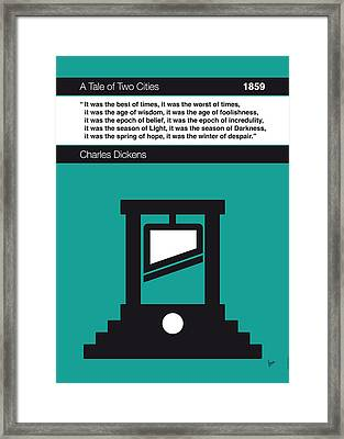 No009 My Tale Of Two Cities Book Icon Poster Framed Print