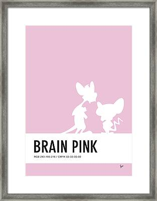 No01 My Minimal Color Code Poster Pinky And The Brain Framed Print by Chungkong Art