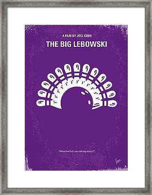 No010 My Big Lebowski Minimal Movie Poster Framed Print by Chungkong Art