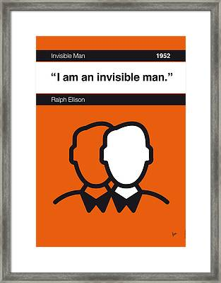 No010-my-invisible Man-book-icon-poster Framed Print