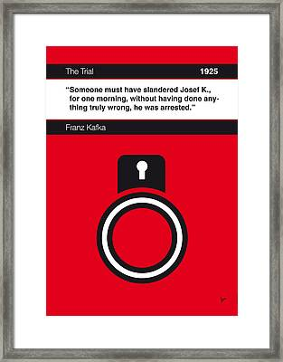 No013-my-the Trial-book-icon-poster Framed Print by Chungkong Art