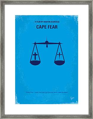 No014 My Cape Fear Minimal Movie Poster Framed Print