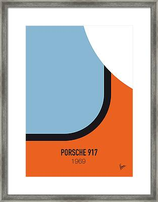 No016 My Le Mans Minimal Movie Car Poster Framed Print