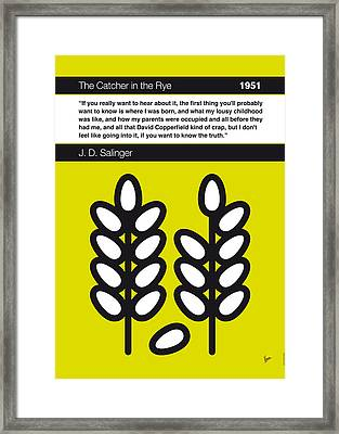 No016-my-the Catcher In The Rye-book-icon-poster Framed Print by Chungkong Art