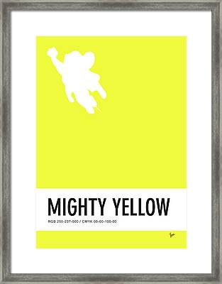 No02 My Minimal Color Code Poster Mighty Mouse Framed Print by Chungkong Art