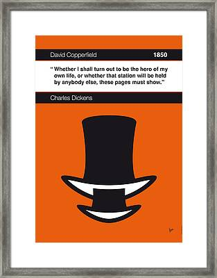 No020-my-david Copperfield-book-icon-poster Framed Print by Chungkong Art