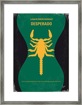 No021 My Desperado Minimal Movie Poster Framed Print by Chungkong Art