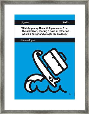 No021-my-ulysses-book-icon-poster Framed Print by Chungkong Art