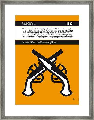 No022-my-paul Clifford-book-icon-poster Framed Print by Chungkong Art