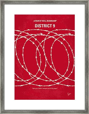 No023 My District9 Minimal Movie Poster Framed Print by Chungkong Art