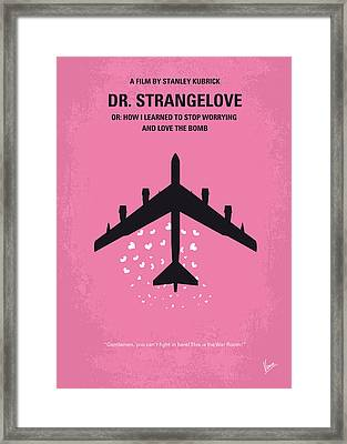 No025 My Dr Strangelove Minimal Movie Poster Framed Print