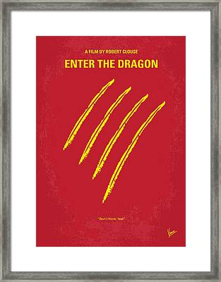No026 My Enter The Dragon Minimal Movie Poster Framed Print